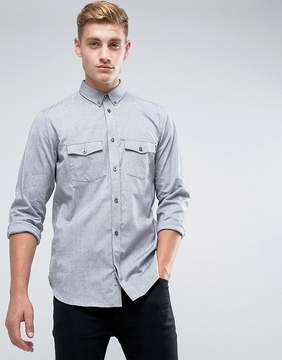 French Connection Slim Fit Shirt with Double Pocket