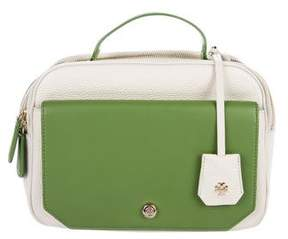 Tory Burch Bicolor Leather Satchel - GREEN - STYLE