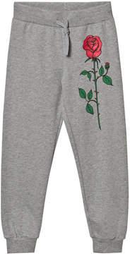 Mini Rodini Grey Rose Sweatpants