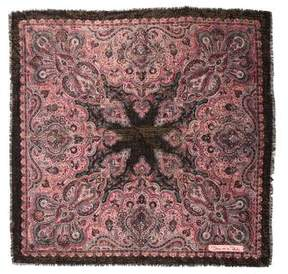 Oscar de la Renta Wool Patterned Scarf