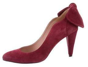 Carven Bow Round-Toe Pumps