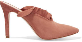 Loeffler Randall Langley Ruffled Suede Mules - Antique rose