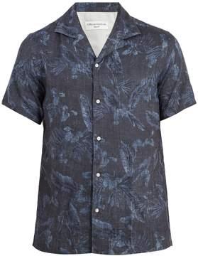 Officine Generale Dario printed short-sleeved shirt