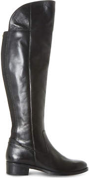 Dune Ladies Black Asymmetric Teigen Leather Over-The-Knee Boots