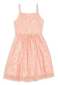 Un Deux Trois Girl's Lace Fit-&-Flare Dress