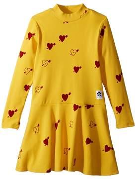 Mini Rodini Heart Rib Dance Dress Girl's Dress