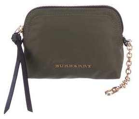 Burberry Nylon Small Pouch w/ Tags - GREEN - STYLE