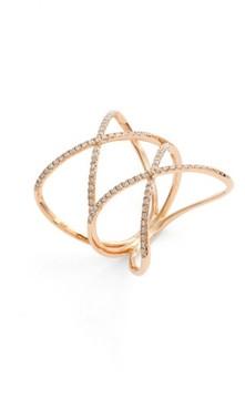 Bony Levy Women's Diamond Double Crisscross Ring (Nordstrom Exclusive)