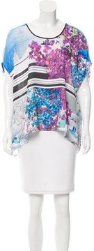 Clover Canyon High-Low Graphic Print Blouse