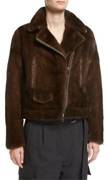 Brunello Cucinelli Reversible Mink Fur Moto Jacket