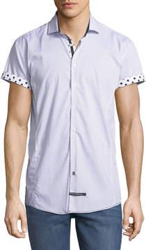 English Laundry Classic-Fit Polka-Dot Short-Sleeve Sport Shirt