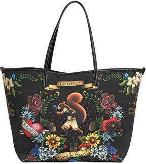 Neoprene Tattoo Print Tote Bag