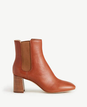 Ann Taylor Noemie Leather Heeled Booties