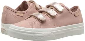 Vans Kids Style 23 V Metallic/Rose Gold) Girl's Shoes