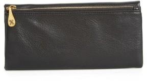 Women's Hobo Eagle Calfskin Leather Trifold Wallet - Black
