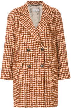 Alberto Biani houndstooth pattern coat