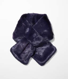 LOFT Faux Fur Pull Through Scarf