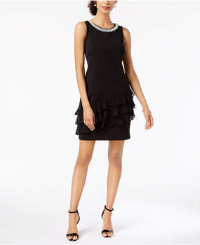 Connected Embellished Ruffled Dress