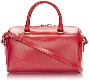 Saint Laurent Red Leather Classic Baby Duffle Bag - RED - STYLE