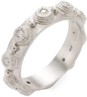 Armenta Women's Sterling Silver and Diamond Bezel Stack Ring