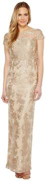 Adrianna Papell Pop Over Embroidered Gown Women's Dress