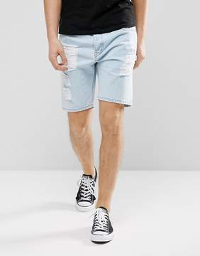 Dr. Denim Bay Ripped Denim Shorts