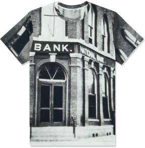 Carven Black/White Bank Jersey T-Shirt