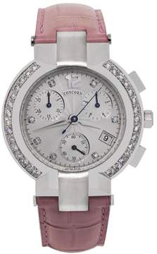 Concord La Scala 0310407 Stainless Steel Chronograph Diamond Bezel 38mm Womens Watch