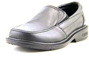 Kenneth Cole Reaction Prep Talk Youth Round Toe Leather Black Loafer.