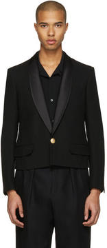 Balmain Black Short Shawl Blazer