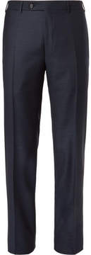 Canali Dark-Blue Slim-Fit Wool Suit Trousers