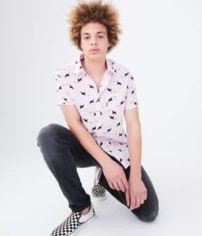 Aeropostale Flock Of Toucans Woven Shirt
