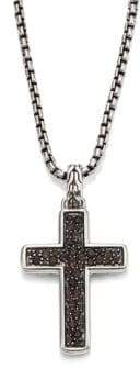 John Hardy Classic Chain Collection Black Sapphire Sterling Silver Chain Necklace
