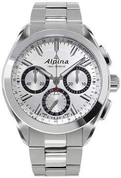 Alpina Alpiner 4 Flyback Chronograph Silvered Sunray Dial Stainless Steel Men's Watch