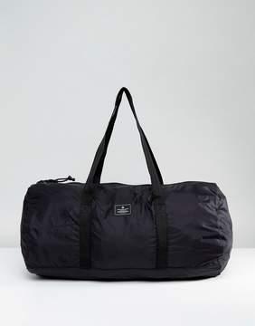 Asos Packaway Barrel Bag In Black