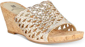 White Mountain Amal Embellished Wedge Sandals, Created for Macy's Women's Shoes