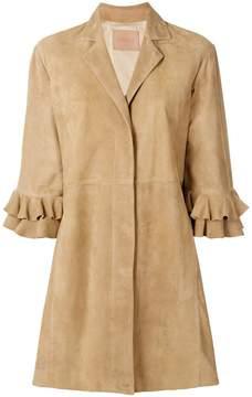 Drome frill sleeve coat