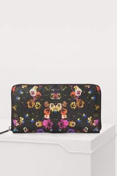 Givenchy Pansies Zip Wallet
