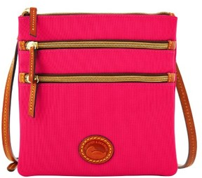 Dooney & Bourke Nylon North South Triple Zip Shoulder Bag - HOT PINK - STYLE