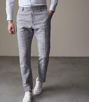 Reiss KRAY T SLIM FIT CHECKed TROUSERS
