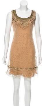 Bill Blass Embellished Mini Dress