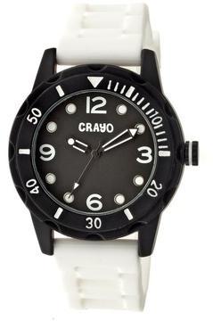 Crayo Splash Collection CRACR2201 Unisex Watch with Silicone Strap
