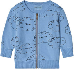 Bobo Choses Heritage Blue Clouds Zipped Sweatshirt