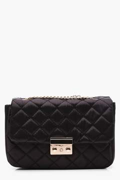 boohoo Jen Quilted Chain Strap Cross Body Bag