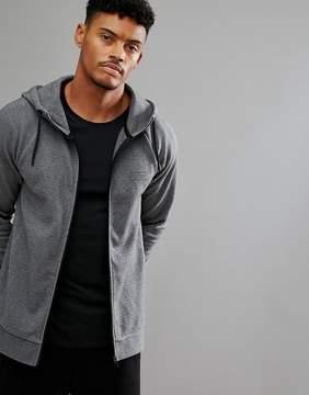 Jack Wills Sporting Goods Pembroke Hi Neck Zip Through Sweater In Gray