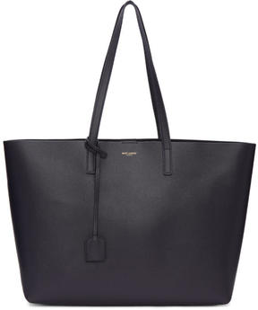 Saint Laurent Navy Large East-West Shopping Tote - NAVY - STYLE