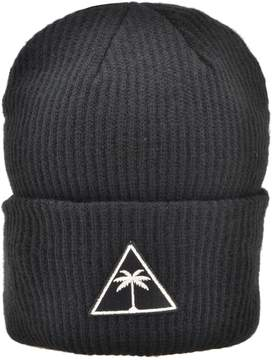 Palm Angels Ribbed Knitted Hat