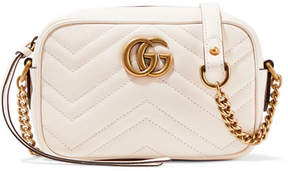 Gucci Gg Marmont Camera Mini Quilted Leather Shoulder Bag - Off-white