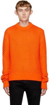 Calvin Klein Orange Cable Knit Sweater