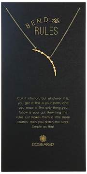 Dogeared Bend The Rules, Crystal Arc Necklace Necklace
